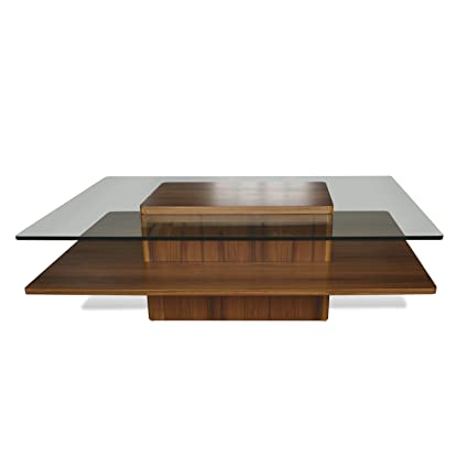 2000 Series Rectangle Coffee Table with Tempered Glass Top