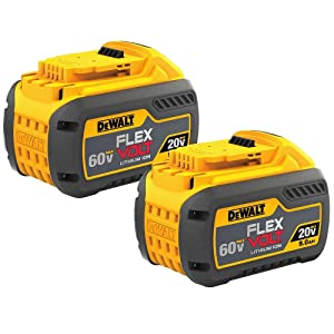 DEWALT DCB609-2 20V/60V MAX FLEXVOLT 9Ah Battery, 2 Pack (Tamaño: 2 Pack)