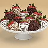 Shari's Berries - Full Dozen Gourmet Dipped Fancy Strawberries - 12 Count - Gourmet Fruit Gifts