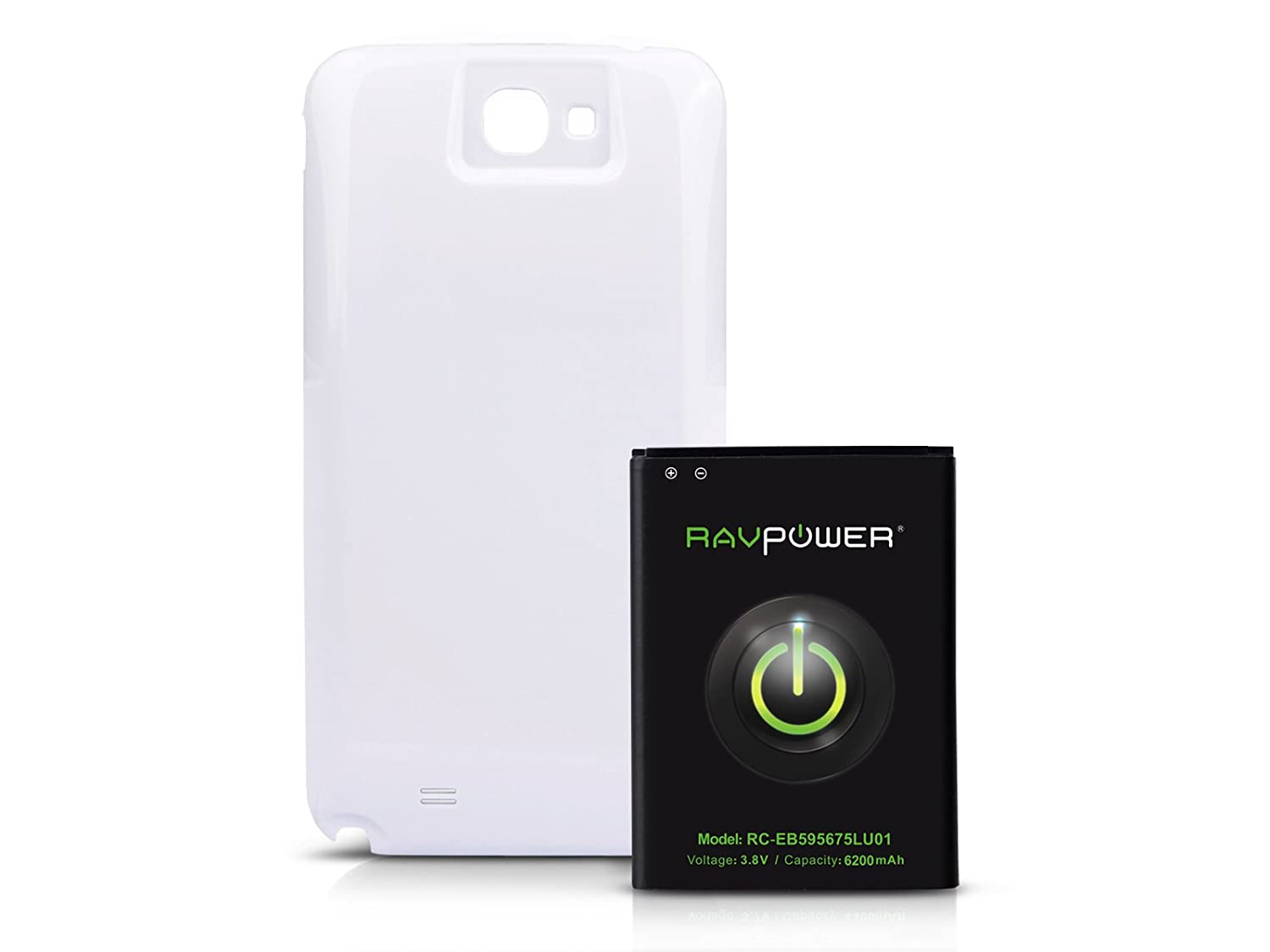 RAVPower 6200mAh Extended Battery for Samsung Galaxy Note 2/II