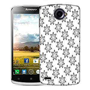 Snoogg Grey Stars Designer Protective Phone Back Case Cover For Lenovo S920