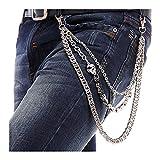 BeOne Men Cool Skull Punk Trouser Long Wallet Key Chain