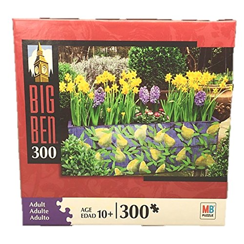Big Ben 300 Piece Jigsaw Puzzle From Milton Bradley By Hasbro: Narcissus & Hyacinth Flower Box
