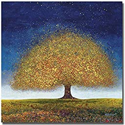 Dreaming Tree Blue by Melissa Graves-Brown Premium Oversize Gallery-Wrapped Canvas Giclee Art (Ready-to-Hang)