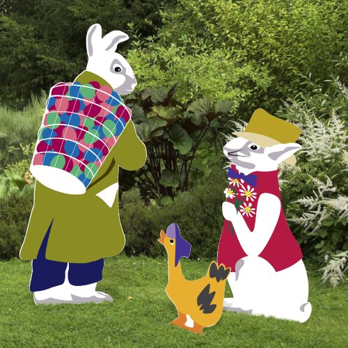 Outdoor Nativity Store Traveling Rabbits Easter Yard Sign Set