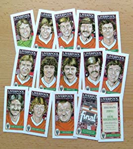 Liverpool Fc 1977 European Cup Winners Card Set from PHILIP NEILL GRAPHICS