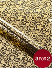 Marcel Wanders Gold & Black Wrapping Paper