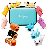 12 Pcs Cable Bites for iPhone Cable Cord Cute Animal Cable Buddies Bite Cable Protector Saver Phone Accessory (Color: 12 Pack)
