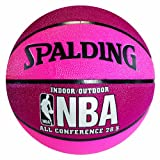 Spalding 74-703 Pink & Crimson NBA All Conference Basketball, Size 6 (28.5