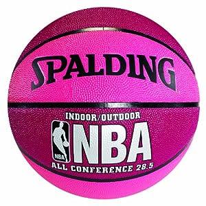 "Spalding 74-703 Pink & Crimson NBA All Conference Basketball, Size 6 (28.5"")"