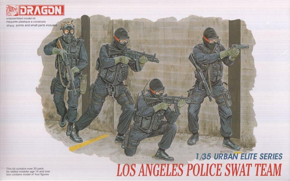 Amazon.com: DML6502 1:35 Dragon Los Angeles Police SWAT Team ...