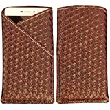 Panasonic Eluga Ray X - New Stylish Pu Leather Mobile Protector Pouch Cover By eSyon - ( Brown )