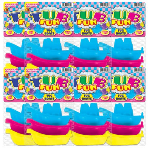 Ja-Ru Tub Fun 3 Piece Tug Boat Party Favor Kit, 8 Pack front-139333