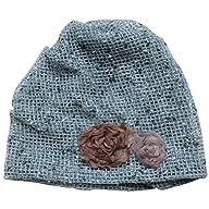 eYourlife2012 Women's Summer Hook Flower Floral Slouchy Mesh Beanie Beret Hat