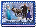 Frozen Personalized Edible Cake Topper Image -- 1/4 Sheet