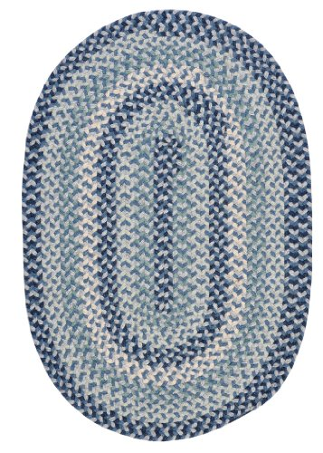 Boston Common Polypropylene Braided Rug, 3-Feet by 5-Feet, Capeside Blue