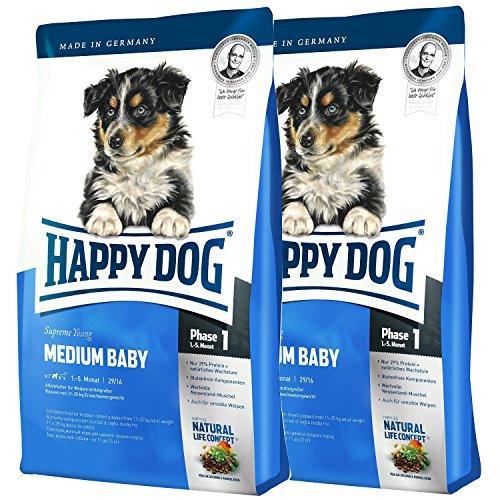2x10 kg Happy Dog Medium Baby Phase 1 Hundefutter für Welpen mittelgroßer Rassen