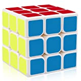 D-FantiX Yj Guanlong 3x3 Speed Cube Magic Cube Puzzle White 56mm (Color: White)