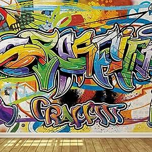 Cool graffiti wall 2 wallpaper mural for Amazon mural wallpaper