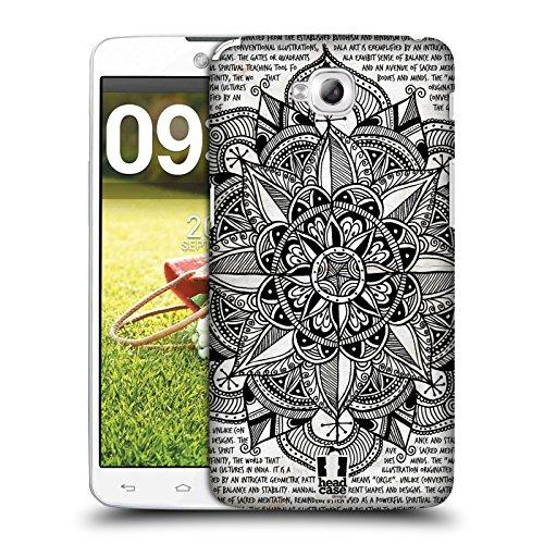 Head Case Designs Papier Mandala Doodle Snap-on Schutzhülle Back Case für LG G Pro Lite D680