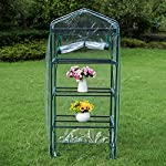 Sundale Outdoor Gardening Portable Mini Green House with 4 Tier and PVC Cover, Waterproof Hot Green House, 27