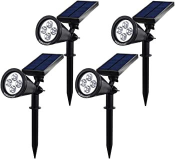 4-Pack Hallomall Solar Wall Lights