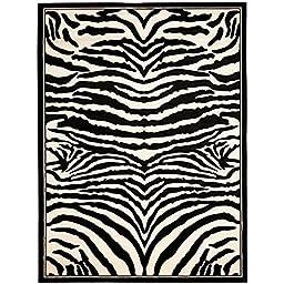 Safavieh Lyndhurst Collection LNH226A White and Black Area Rug, 4 feet by 6 feet (4\' x 6\')