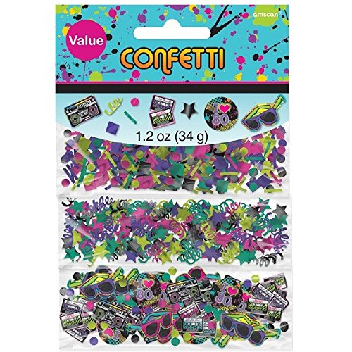 Totally 80s Confetti, Pack of 3; This colourful and fun combi-pack features three separate designs of sprinkles that will add sparkle to your party!