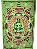 Indian Lotes Bhudha Tapestry Throw Decor Bedspred Cotton Hippie Wall Hanging Art
