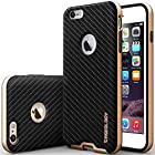 iPhone 6 Plus Case, Caseology [Bumper Frame] Apple iPhone 6 (5.5 inch) Plus Case [Carbon Fiber Black] Slim Fit Skin Cover [Shock Absorbent] TPU Bumper iPhone 6 Plus Case [Made in Korea] (for Apple iPhone 6 Plus Verizon, AT&T Sprint, T-mobile, Unlocked)