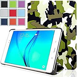 Galaxy Tab A 8.0 Case - HOTCOOL Ultra Slim Lightweight SmartCover Stand Case For Samsung Galaxy Tab A SM-T350NZBAXAR 8-Inch Tablet(With Smart Cover Auto Wake/Sleep), Camouflage Green