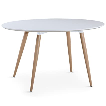 Intense Déco - Table ovale scandinave Lunea Blanc