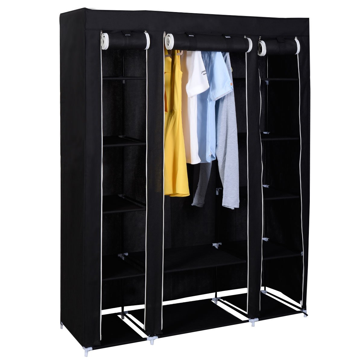 Steel storage cupboard on shoppinder for Clothes rail on wheels ikea