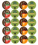 New! 20 Ct Gingerbread Coffee K-cups & Pumpkin Spice Coffee K Cup Sampler Variety Pack (Green Mountain & Caza Trail)