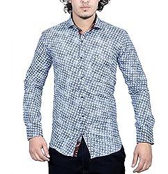 Bucci Men's Casual Shirt _bc101_Blue_L