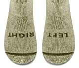 KEEN Kids Yowie Crew Mid Sock,Natural/Sage,Medium