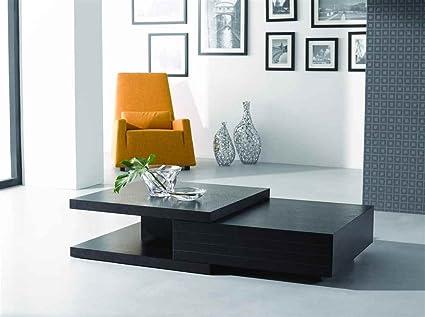 Modern Coffee Table w Drawer & Split Top