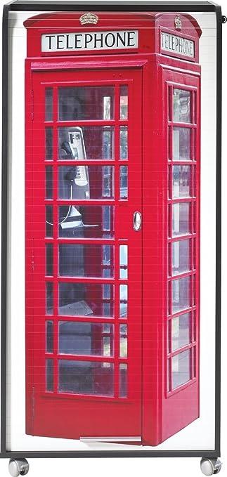 Simmob ORGA140NON700 Londres 700 Armoire Informatique Mobile avec 2 Tiroirs Bois Noir 53,1 x 65,2 x 139,9 cm