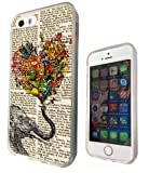 Iphone 4 4S 5 5S 5C Aztec elephant Floral Trunk Funky Design Fashion Trend SILICONE GEL RUBBER CASE COVER-Select your phone model from the drop box under (iphone 4 4S)