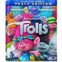 Trolls Party Edition Combo Pack on Blu-ray/DVD/Digital HD