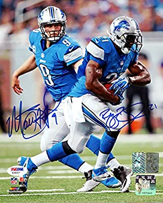 Matthew Stafford & Reggie Bush Autographed 8x10 Photo Detroit Lions PSA/DNA