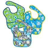 Bumkins 3 Pack Waterproof SuperBib, Disney Monster