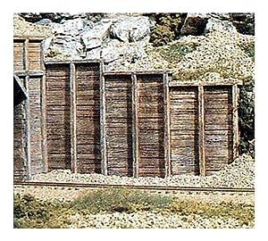 HO Retaining Wall, Timber (3)