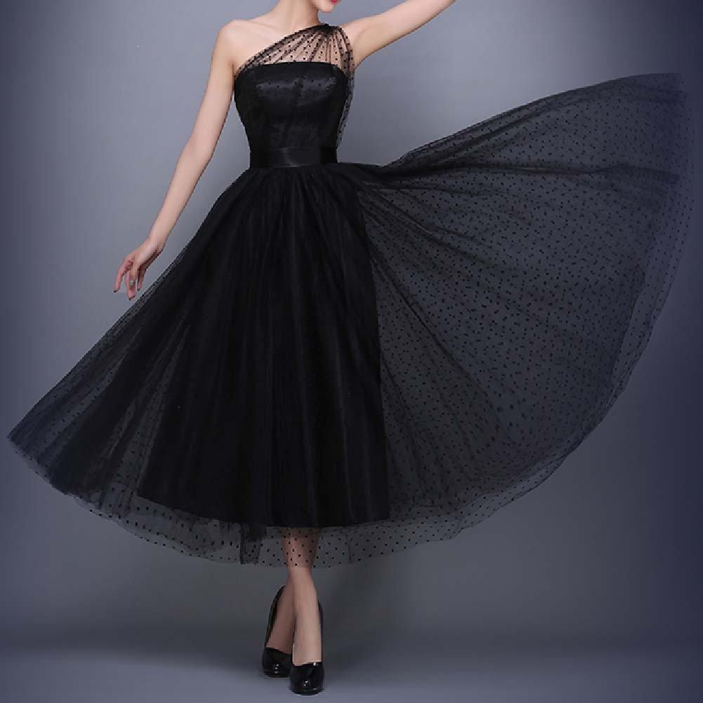 Favors Women's Vintage 50s Tea Length Cockatil One Shoulder Party Dresses WP07 4