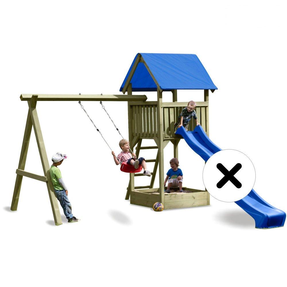 WICKEY Premium Spielturm S mit Schaukel, Sandkasten (ohne Rutsche!)