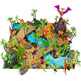 100 Piece Dinosaur and Cave Man Prehistoric Playset with Play Mat and Carrying Case by Imagination Generation