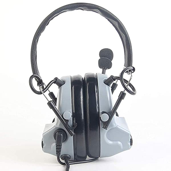 ?Z-TAC Official Store? Z-Tactical Comtac II Headset Style COMTAC II Headset Ver2.0 Style Noise Canceling Sound Collection Soundproof Tactical Headset with Mic G:1 Specifications Non-Mil-Spec Z041 (Color: Sky gray)