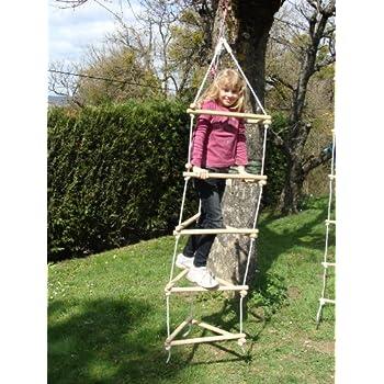 Accrobranche et escalade en bois et corde dans votre jardin