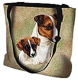 Jack Russell Pup Tote Bag - 17 x 17 Tote Bag