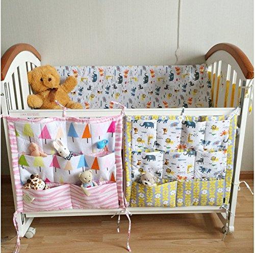 Fs baby crib nursery diaper bag storage stacker hanging for Nursery hanging storage